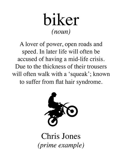 Personalised biker print