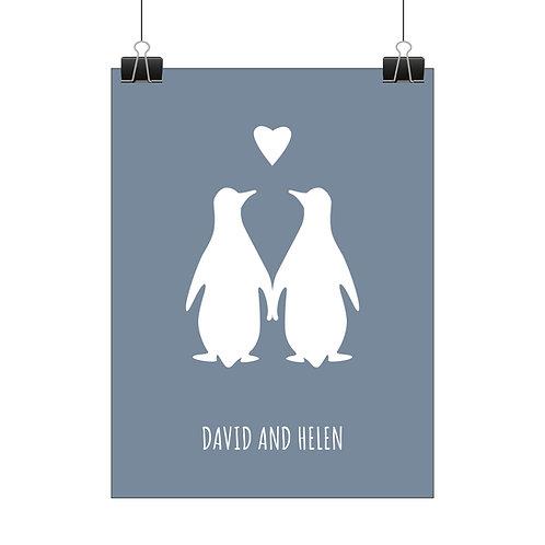 Personalised penguins print
