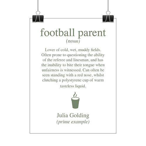 Personalised football parent print