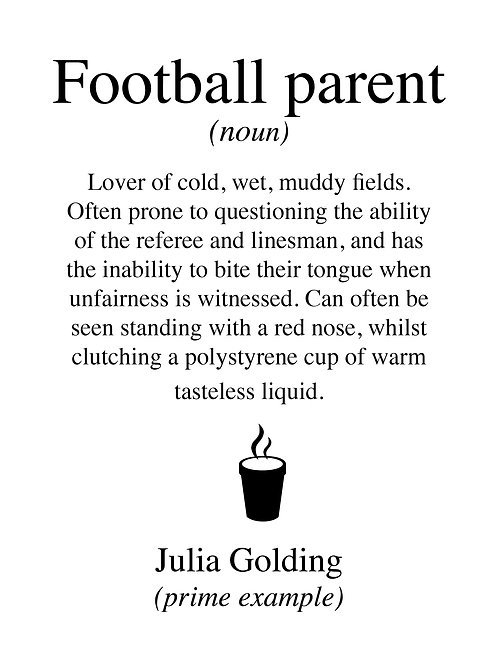 Personalised football parent print