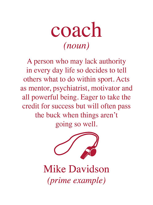 Personalised coach wall art print