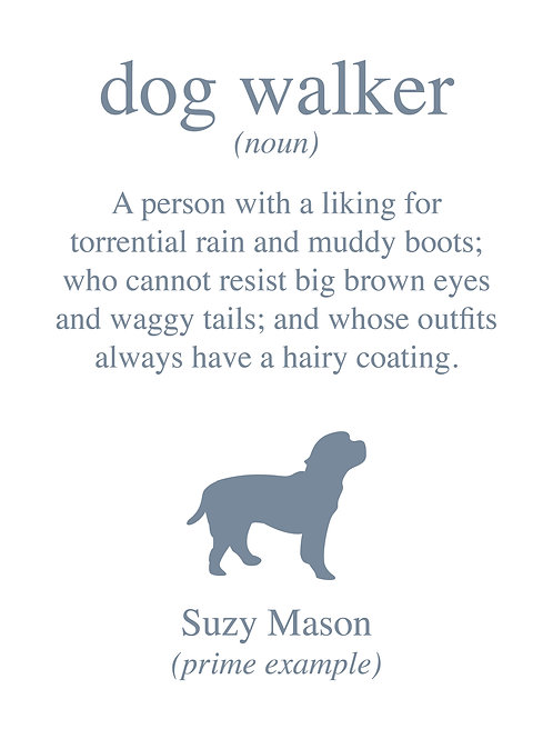Personalised dog walker print