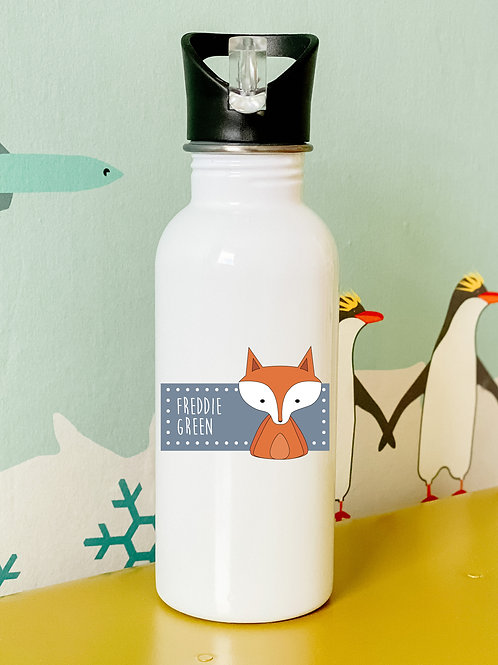Personalised animal water bottle