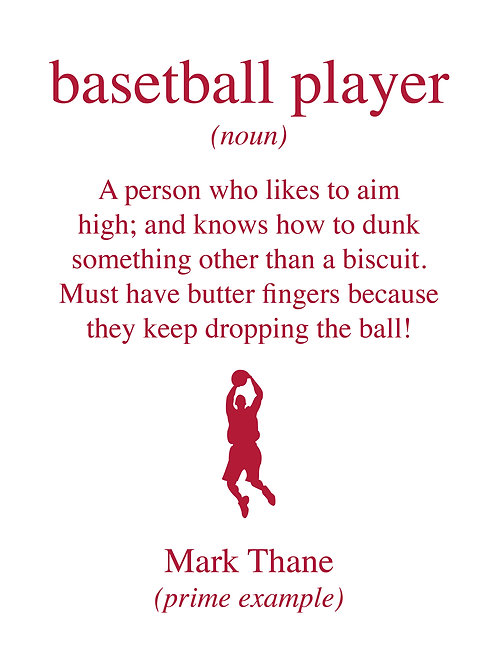 Personalised basketball player print