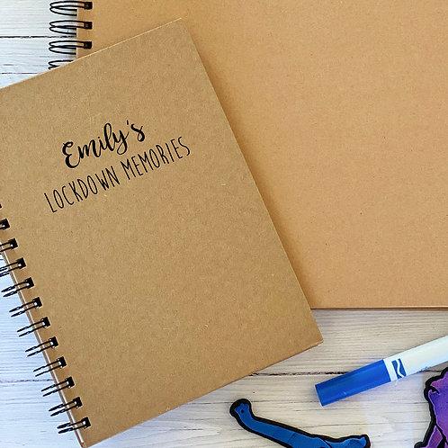 Personalised lockdown notebooks