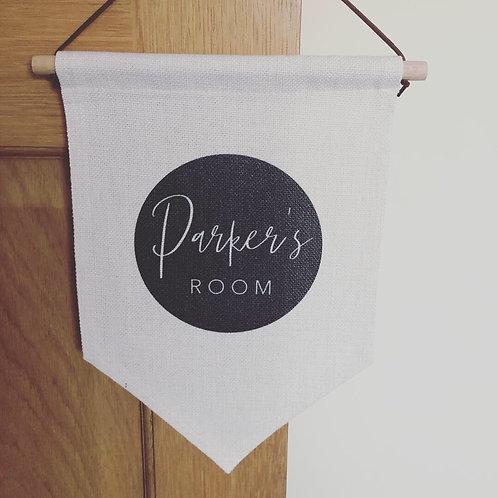 Personalised bedroom flag