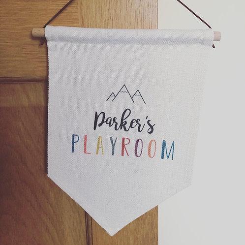 Personalised playroom flag