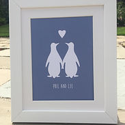 Lilypad Designs personalised prints for couples