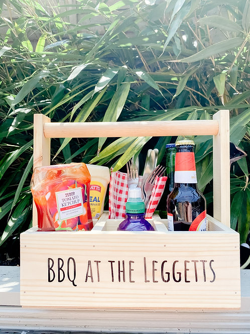 Personalised BBQ caddy