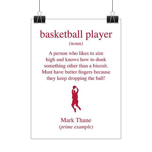 Personalised basketball player print