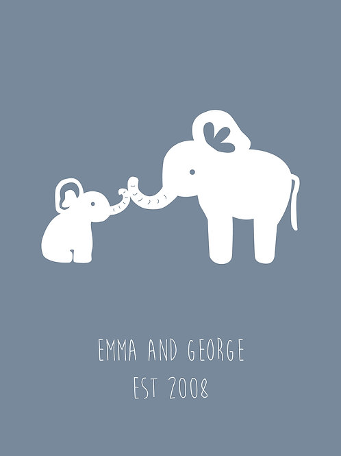 Personalised parent and child print