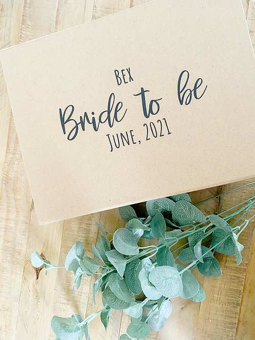 Personalised wedding party gift box