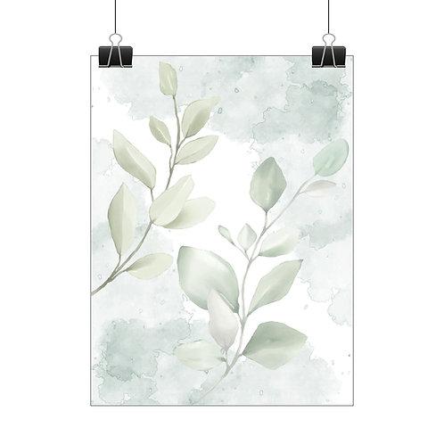 Watercolour leaf print