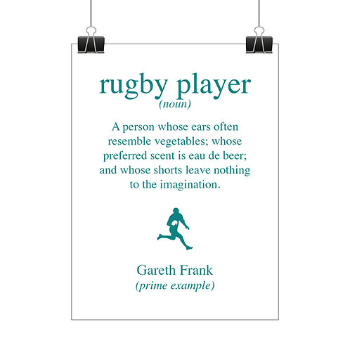 Personalised rugby print