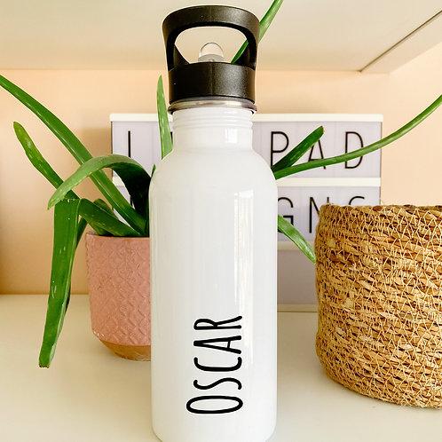 Personalised name flip straw water bottle