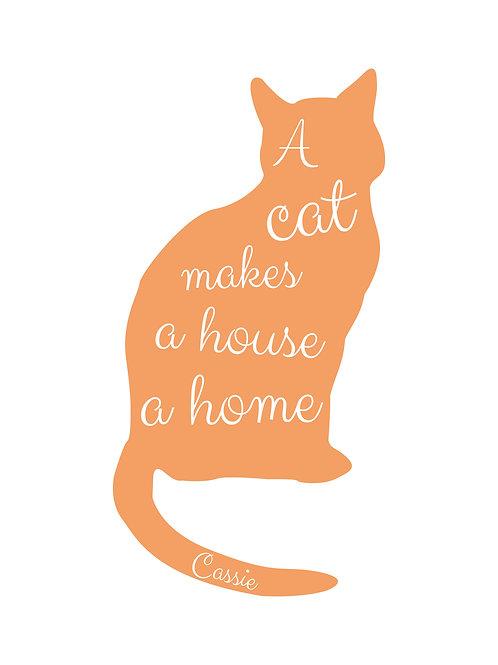 Personalised cat print