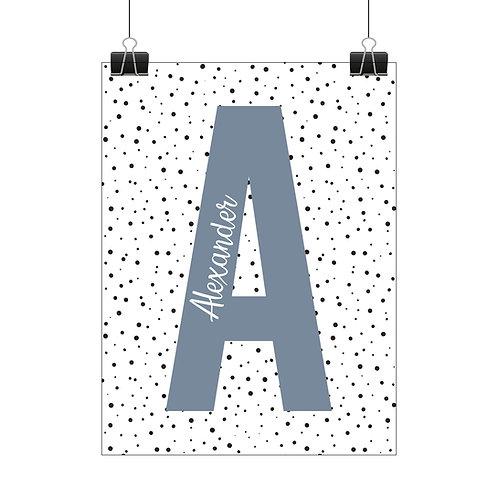 Personalised polka dot print