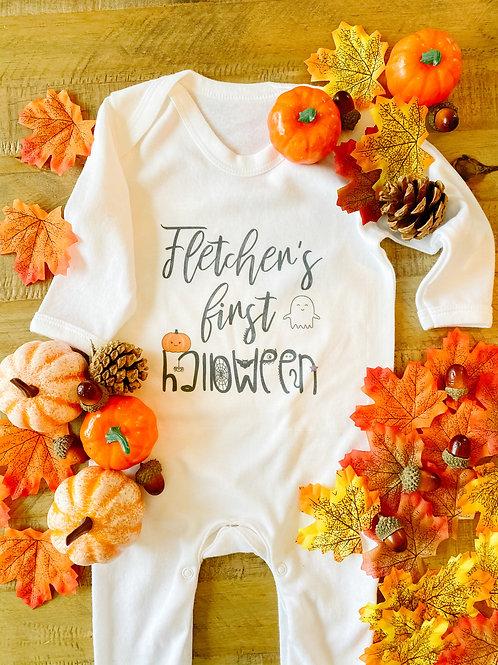 Personalised Halloween baby grow