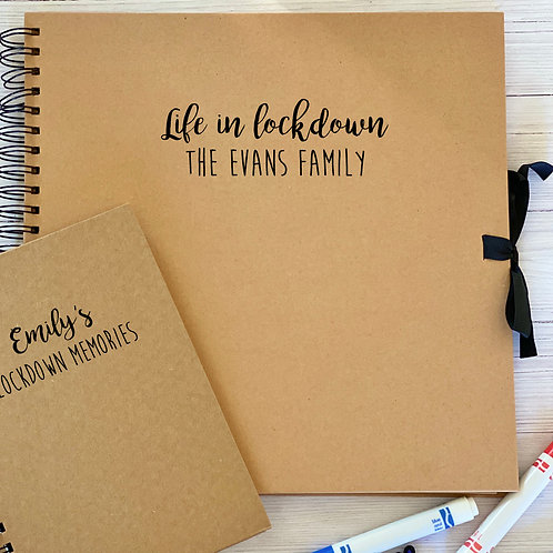 Personalised lockdown scrapbook