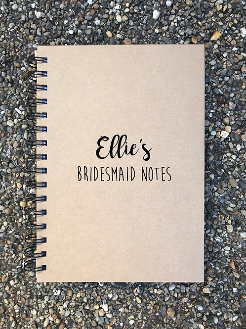 Personalised wedding notebooks