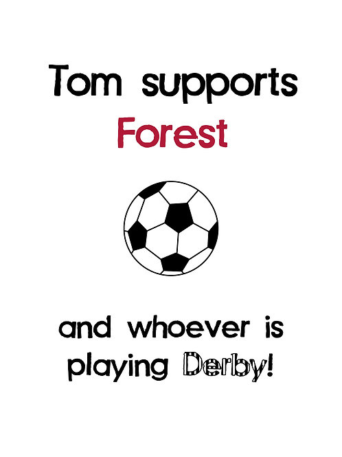 Personalised football supporter print