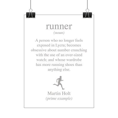 Personalised runner print
