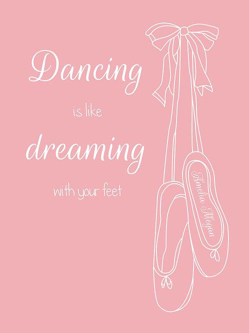 Personalised dancing is like dreaming print