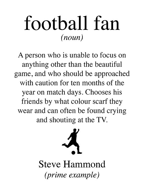 Personalised football fan print