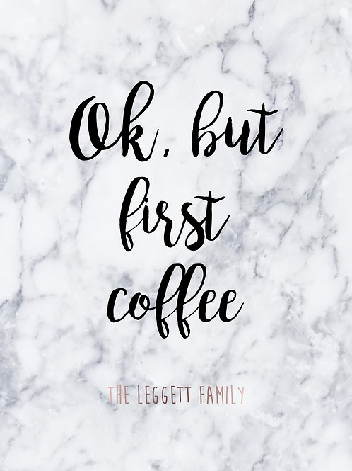Personalised coffee print
