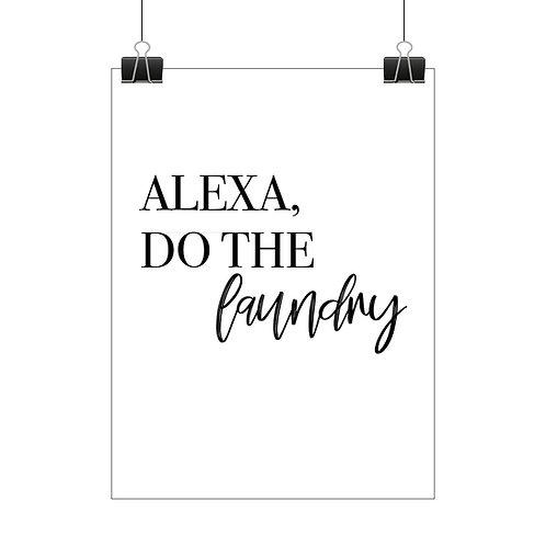 Alexa, do the laundry print