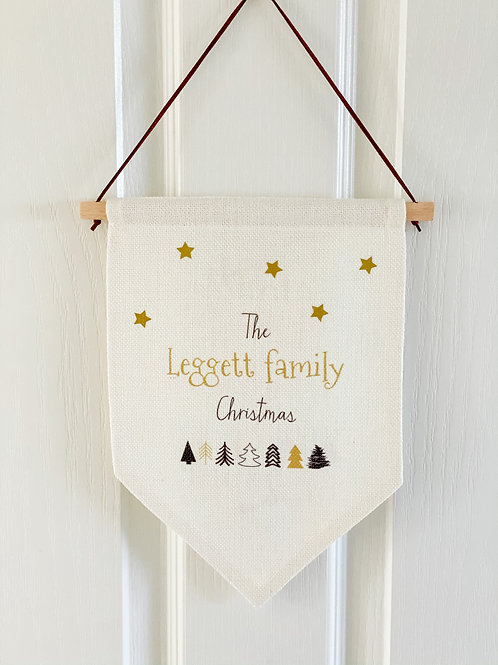 Personalised Christmas flag