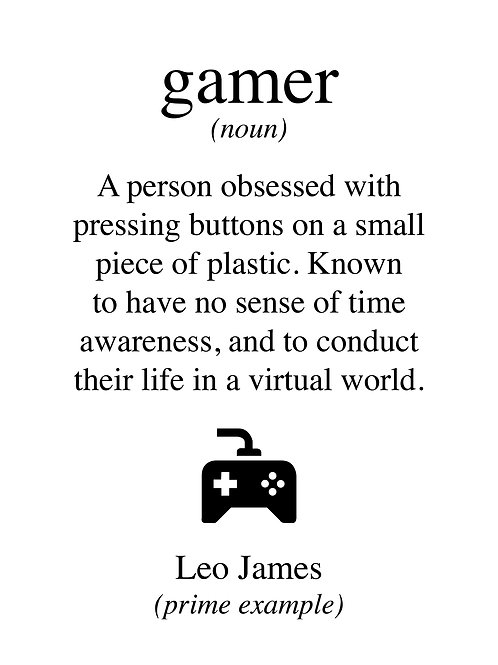 Personalised gamer print