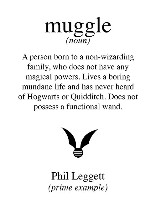 Personalised muggle print