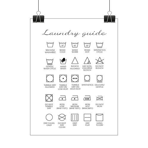 Laundry guide print