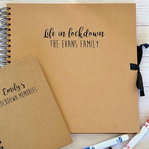 Personalised lockdown scrapbook