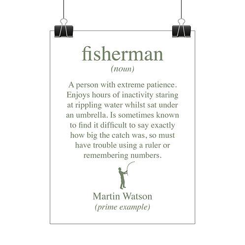 Personalised fisherman print