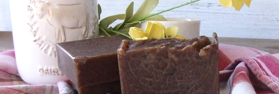 Coffee Scrub Bar - Coffee Scented Natural Handcrafted Soap Bar