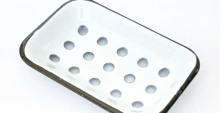 Farmhouse Soap Dish - White