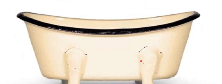 Farmhouse Bath Tub Soap Dish - Mustard