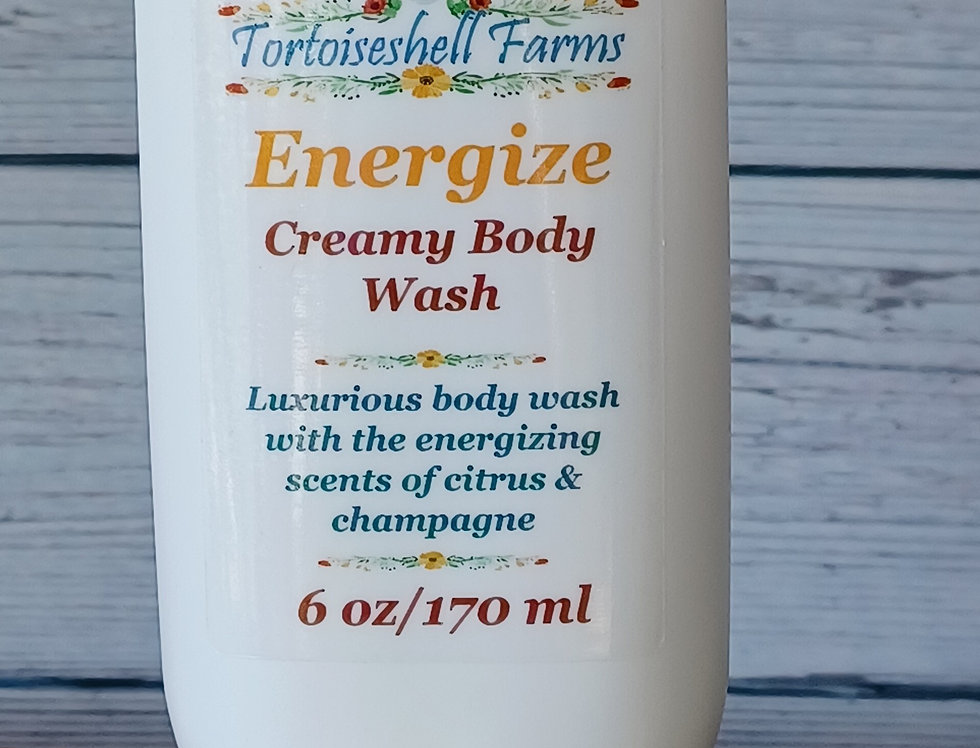 Energize Creamy Body Wash - Citrus Scented Natural Handcrafted Body Wash