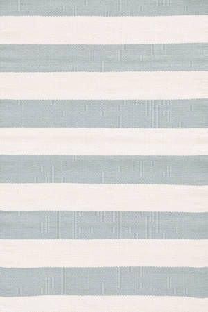Catamaran Stripe Light Blue/Ivory Indoor/Outdoor
