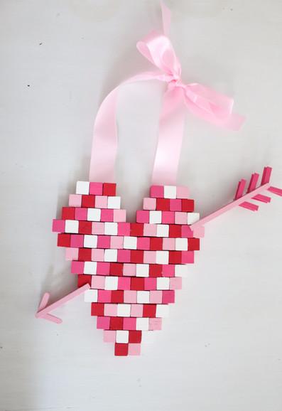 DIY Pixelated Heart