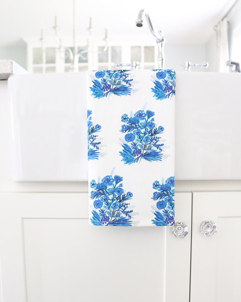 Porcelain Flower Power! Tea Towel (large)