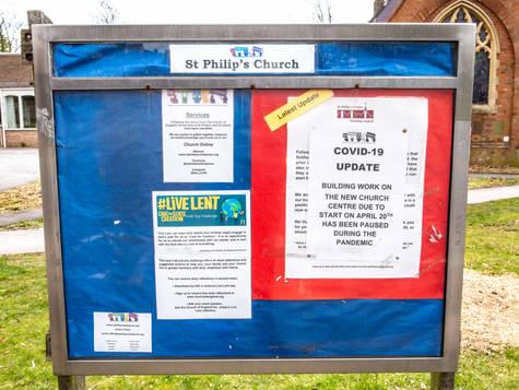 St Philip's Church Notice Board