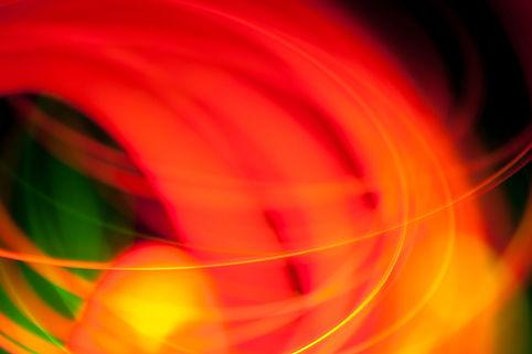 Rot Orange Lichtkunst
