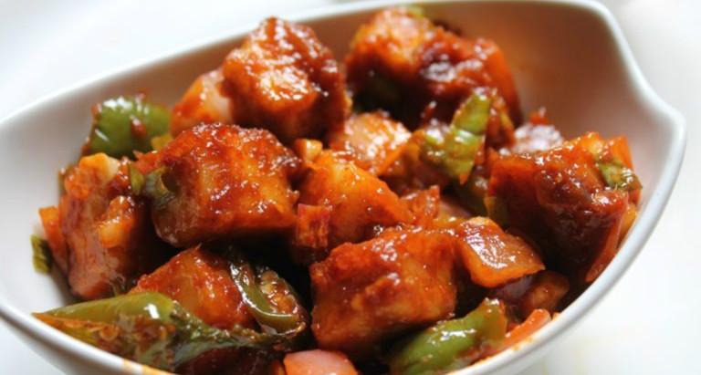 Quick & delicious Chilli Paneer