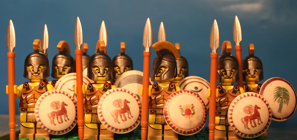Second Punic War Lego phalanx of Hannibal Barca