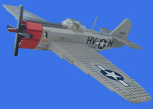 Lego World War Two airplane fighter bomber by Republic