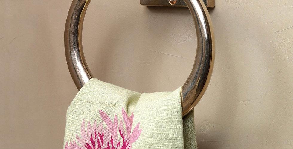 Towel Ring with Designer Escutcheon