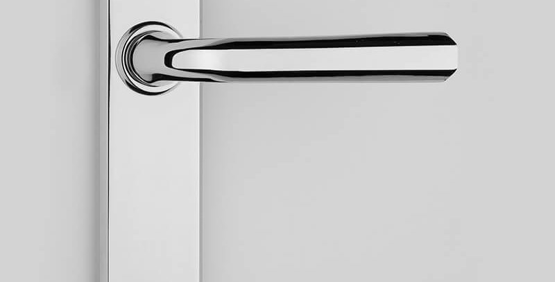 Contemporary Lever Handle On Backplate